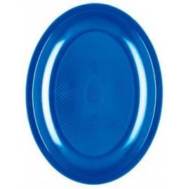 Piatti Plastica Ovali Blu Mediterraneo Round PP 255mm (600 Pezzi)