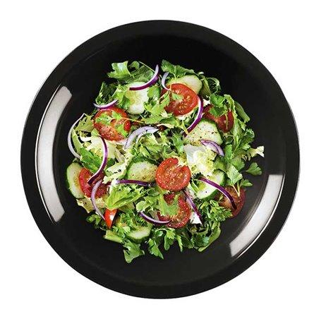 Piatto di Plastica Fondo Nero Round PP Ø195mm (300 Pezzi)