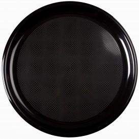 Piatto di Plastica per Pizza Nero Ø350mm (12 Pezzi)