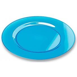 Piatto Plastica Tondo Rigida Turchese 19cm (120 Pezzi)