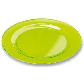Piatto Plastica Tondo Rigida Verde 19cm (120 Pezzi)