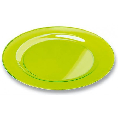 Piatto Plastica Tondo Rigida Verde 23cm (6 Pezzi)