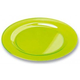 Piatto Plastica Tondo Rigida Verde 26cm (6 Pezzi)