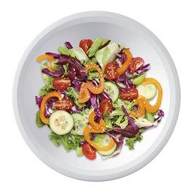 Piatto di Plastica Fondo Bianco Round PP Ø195mm (50 Pezzi)