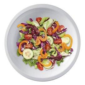 Piatto Plastica Piano Bianco PP Ø220mm (300 Pezzi)