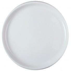 Piatto di Plastica per Pizza Bianco Ø350mm (72 Pezzi)