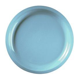 Piatto di Plastica Turchese Round PP Ø290mm (25 Pezzi)