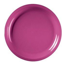 Piatto di Plastica Fucsia Round PP Ø290mm (150 Pezzi)