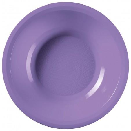 Piatto di Plastica Fondo Lilla Round PP Ø195mm (50 Pezzi)