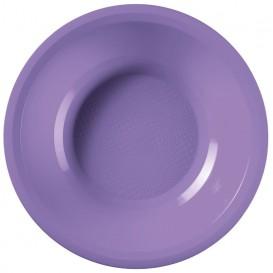 Piatto di Plastica Fondo Lilla Round PP Ø195mm (600 Pezzi)