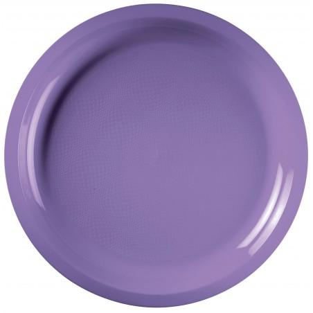 Piatto di Plastica Lilla Round PP Ø290mm (150 Pezzi)