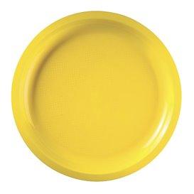 Piatto di Plastica Giallo Round PP Ø290mm (25 Pezzi)