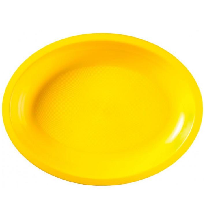 Vassoio Plastica Ovale Giallo Round PP 255x190mm (600 Pezzi)