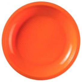Piatto Plastica Piano Arancione Round PP Ø185mm (600 Pezzi)