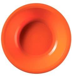 Piatto di Plastica Fondo Arancione Round PP Ø195mm (600 Pezzi)