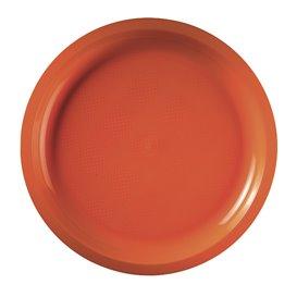 Piatto di Plastica Arancione Round PP Ø290mm (25 Pezzi)