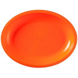 Vassoio Plastica Ovale Arancione Round PP 255x190mm (50 Pezzi)