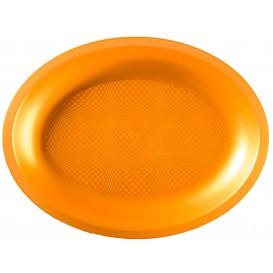 Vassoio Plastica Ovale Oro Round PP 315x220mm (10 Pezzi)