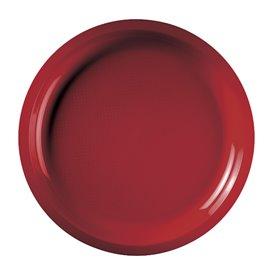 Piatto di Plastica Verde Acido Ø290mm (25 Pezzi)
