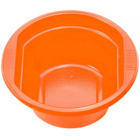 Ciotola di Plastica PS Arancione 250ml Ø12cm (30 Pezzi)