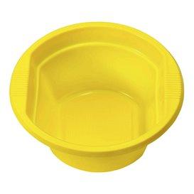 Ciotola di Plastica PS Giallo 250ml Ø12cm (30 Pezzi)