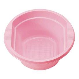 Ciotola di Plastica PS Rosa 250ml Ø12cm (30 Pezzi)