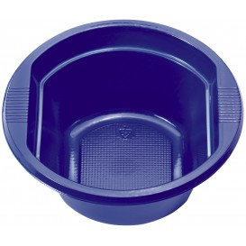 Ciotola di Plastica PS Blu Scuro 250 ml Ø12cm (30 Pezzi)