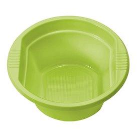 Ciotola di Plastica PS Verde Acido 250ml Ø12cm (660 Pezzi)