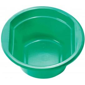 Ciotola di Plastica PS Verde 250ml Ø12cm (30 Pezzi)
