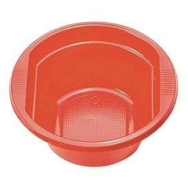 Ciotola di Plastica PS Rosso 250 ml Ø12cm (660 Pezzi)