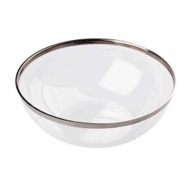 Ciotola di Plastica Rigida Bordo Argento 1500ml (4 Pezzi)