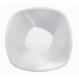 Ciotola di Plastica Bianca Square PP Ø210mm 1250ml (3 Pezzi)