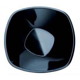 Ciotola di Plastica Nera Square PP Ø210mm 1250ml (3 Pezzi)