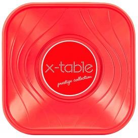"""Ciotola Plastica PP """"X-Table"""" Rosso 18x18cm (8 Pezzi)"""