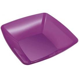 Ciotola di Plastica Quadrata Prugna 28x28cm (20 Pezzi)