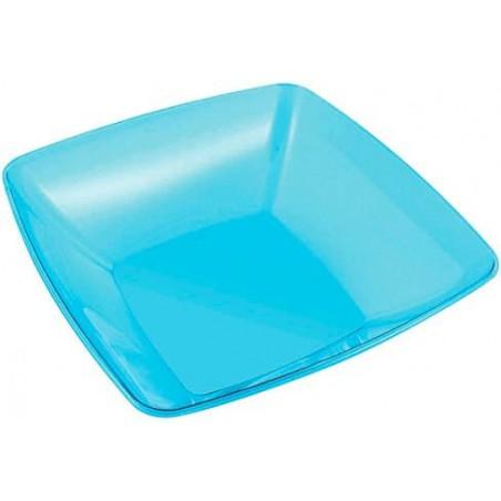 Ciotola di Plastica Quadrata Turchese 28x28cm (1 Unità)