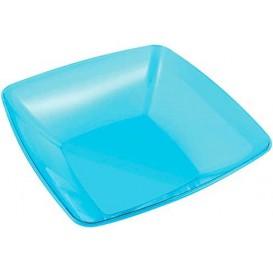 Ciotola di Plastica Quadrata Turchese 28x28cm (20 Pezzi)
