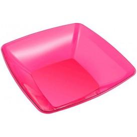 Ciotola di Plastica Quadrata Lampone 28x28cm (1 Unità)