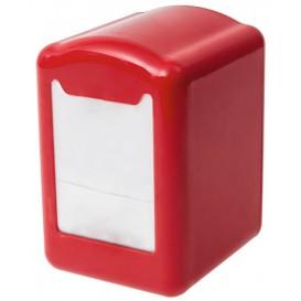 Dispenser Tovaglioli Miniservis Plastica Rosso 17x17cm (12 Pezzi)