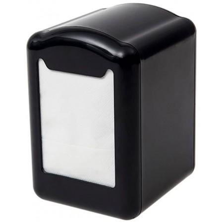 Dispenser Tovaglioli Miniservis Plastica Nero 17x17cm (12 Pezzi)