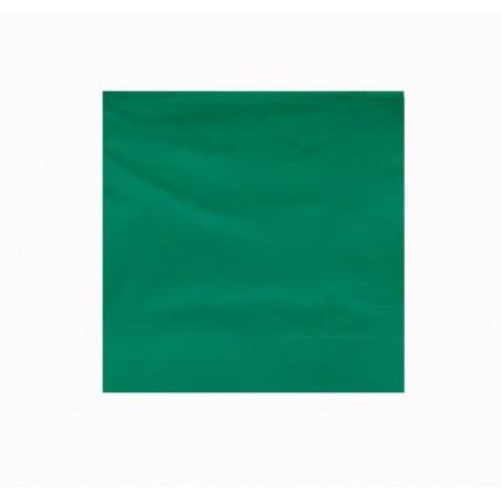 Tovagliolo di Carta 2V 25x25cm Verde (100 Pezzi)