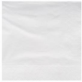 Tovagliolo di Carta 2V 25x25cm Bianco (3400 Pezzi)