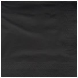 Tovagliolo di Carta 2V 25x25cm Nero (3400 Pezzi)