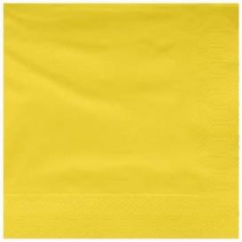 Tovagliolo di Carta 2V 25x25cm Giallo (100 Pezzi)