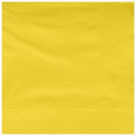 Tovagliolo di Carta 2V 25x25cm Giallo (3400 Pezzi)