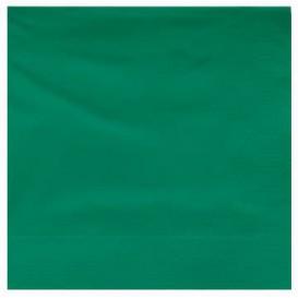 Tovagliolo di Carta 2V 25x25cm Verde (3400 Pezzi)