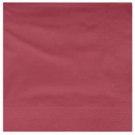 Tovagliolo di Carta 2V 25x25cm Bordò (3400 Pezzi)