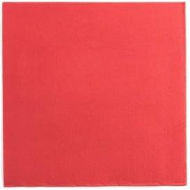 Tovagliolo di Carta Punta Punta 25x25cm Rosso (2100 Pezzi)
