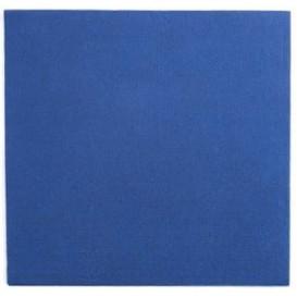 Tovagliolo di Carta Punta Punta 25x25cm Blu (1400 Pezzi)