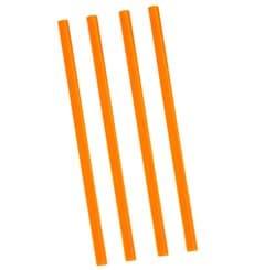 Cannuccia Dritta Arancione per Granita Ø8mm 22cm (500 Pezzi)